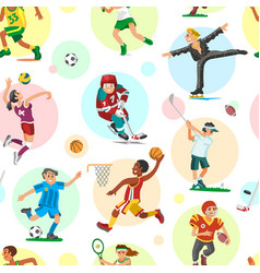 Sport people woman and man flat fitness activities vector