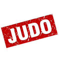 square grunge red judo stamp vector image