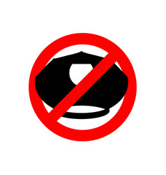 Stop police police cap prohibited sign ban cop vector