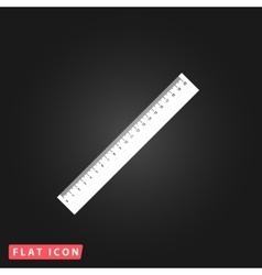 Straightedge icon vector