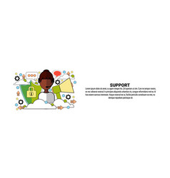 support business coaching concept horizontal web vector image