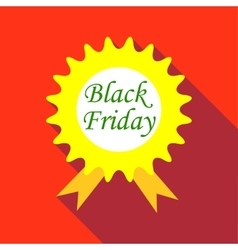 Tag black friday icon flat style vector