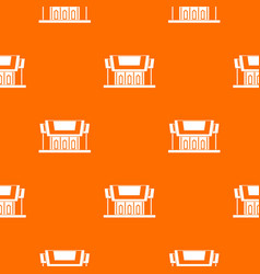 Thailand temple pattern seamless vector