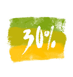 thirty percent label vector image