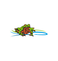 toad bait logo vector image