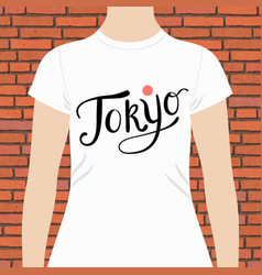 tokyo t-shirt design template vector image