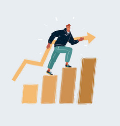 two businessmen climbing a ladder isolated on a vector image