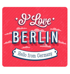Vintage greeting card from berlin - germany vector