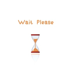 wait please vector image