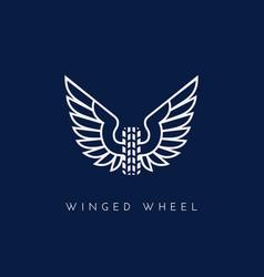 Winged wheel vector