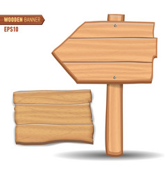 wooden signboards wood arrow sign vector image