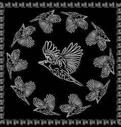 World crows vector image
