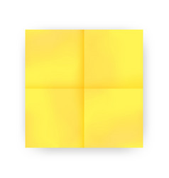 Yellow sticky note vector
