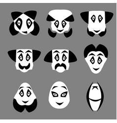 gentleman icon - man with moustache and bow tie vector image
