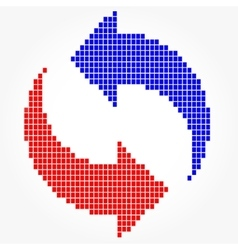 Round Mosaic Arrows Pixel Blocks vector image vector image