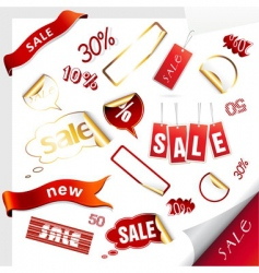sale icons labels stickers vector image vector image