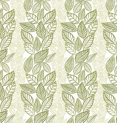 Seamless leaves pattern floral wallpaper hand vector image vector image