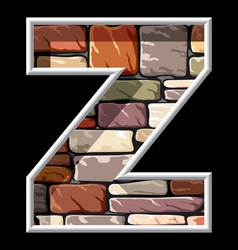 stone letter Z vector image vector image