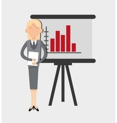 Business woman and office related items vector