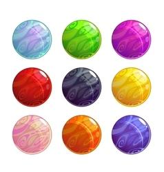 colorful glassy magic balls set vector image vector image