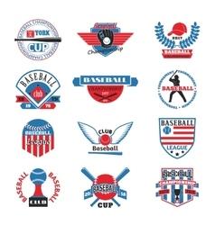 Baaseball badge logo vector image vector image