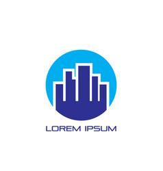 circle city logo vector image vector image
