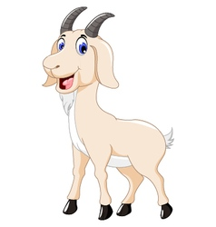 cute goat cartoon for you design vector image vector image