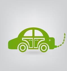 ecologic car vector image vector image