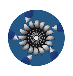 hydroturbine sources of water power vector image vector image