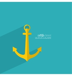 Anchor with long shadow vector image vector image