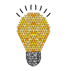 Background with abstract light bulb with geometric vector