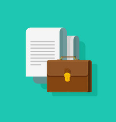 big documents with briefcase vector image vector image