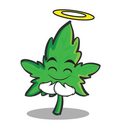 innocent face marijuana character cartoon vector image vector image