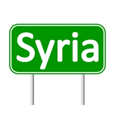 Syria road sign vector image
