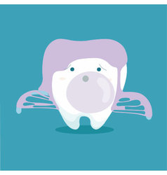 Tooth and chewing gum vector image