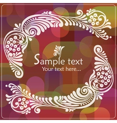Vintage card with floral elements vector image vector image