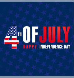 4 july independence day usa banner blue vector image