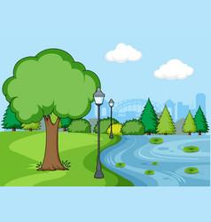a simple park scene vector image