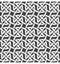 Abstract repeating background of white twisted vector image