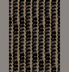 abstract seamless pattern dark curly columns vector image