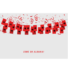 albania garland flag with confetti vector image