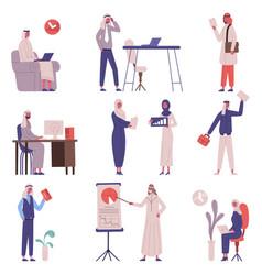 arabian saudi islamic office business team people vector image