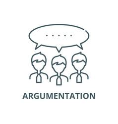 argumentation line icon argumentation vector image