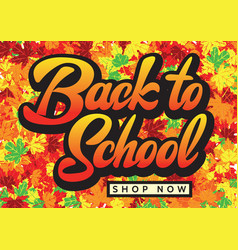Autumn sale flyer template with lettering bright vector