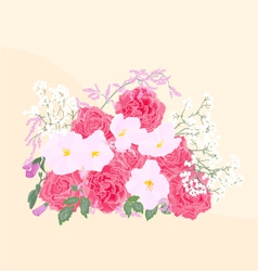 Background-bouquet-of-roses vector