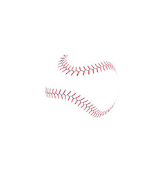Baseball ball double stitch seam line vector