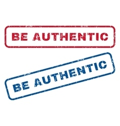 Be Authentic Rubber Stamps vector image