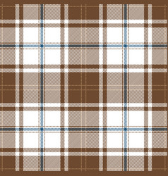 beige and blue tartan plaid seamless pattern vector image