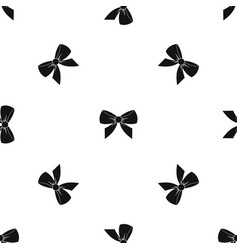 bow pattern seamless black vector image