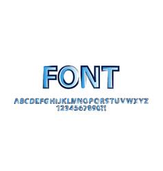 Brush stroke alphabet vector